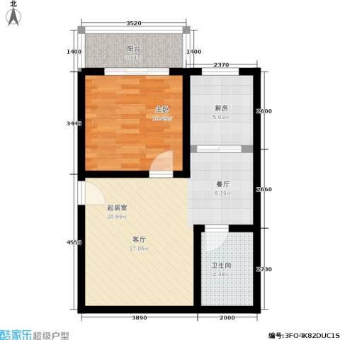 大华锦绣1室0厅1卫1厨52.00㎡户型图