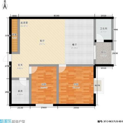捷瑞公园首府2室0厅1卫1厨83.48㎡户型图