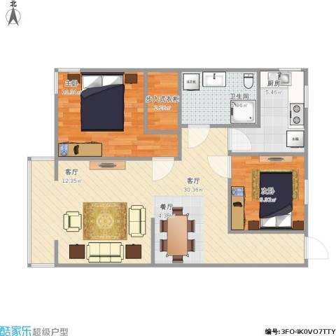 中建府前观邸2室1厅1卫1厨82.00㎡户型图