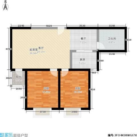 捷瑞公园首府2室0厅1卫1厨90.00㎡户型图