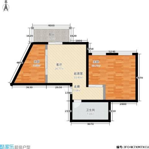 华茂玉龙园2室0厅1卫0厨75.00㎡户型图