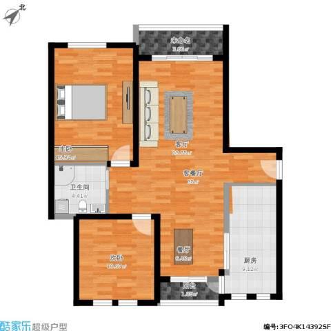 太湖普罗旺斯2室1厅1卫1厨115.00㎡户型图