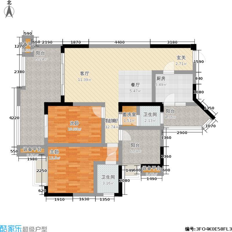 唐人街110.41㎡二期4-5、8#楼D1户型