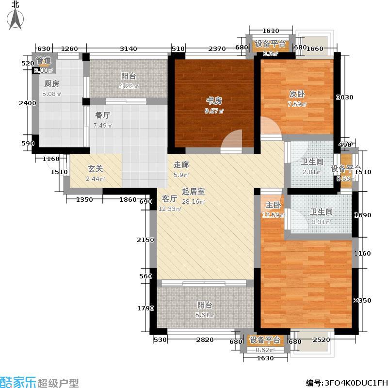 银诚东方国际108.42㎡一期4号楼D4户型