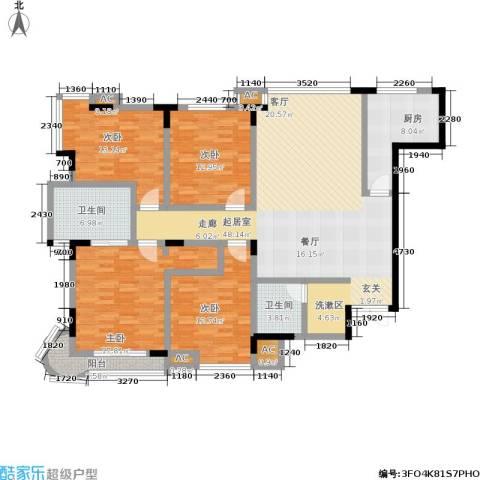 名人御苑4室0厅2卫1厨150.00㎡户型图