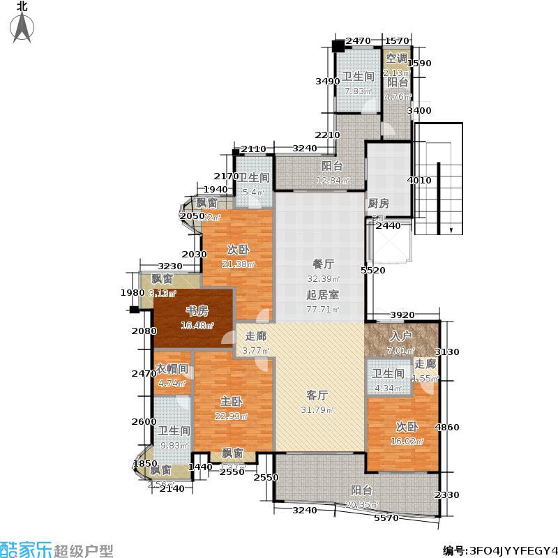 雅居乐藏龙御景251.00㎡2#3#楼大平层标准层C户型