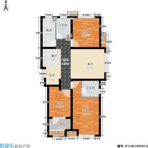 肯彤国际3室1厅2卫1厨114.00㎡户型图