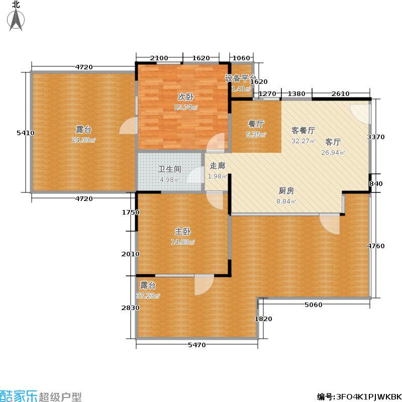 新绎上水颐园77.00㎡A4户型2室2厅