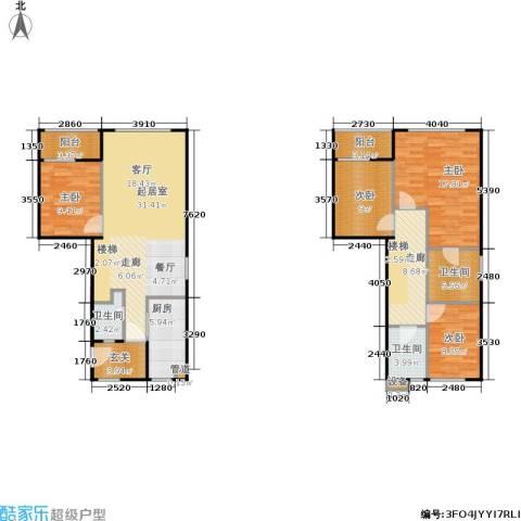 华府国际4室0厅3卫1厨123.00㎡户型图