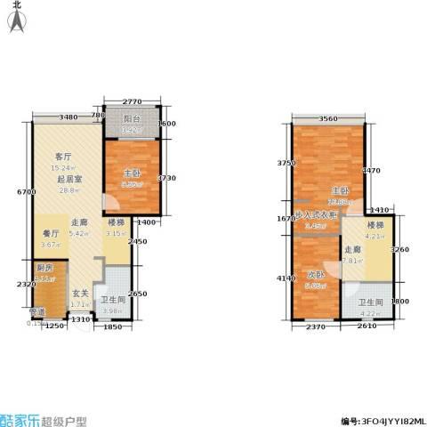 华府国际3室0厅2卫1厨96.00㎡户型图