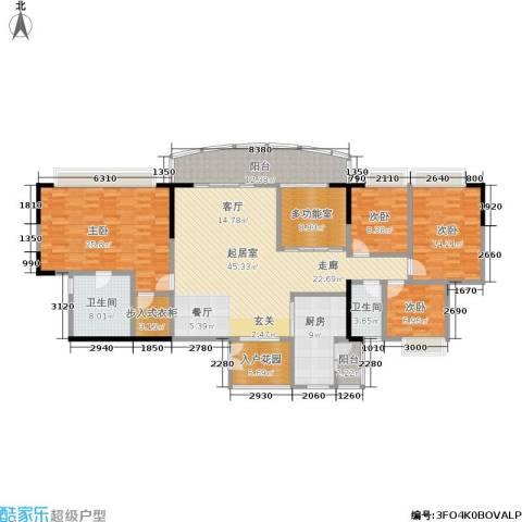 富力广场4室0厅2卫1厨215.00㎡户型图