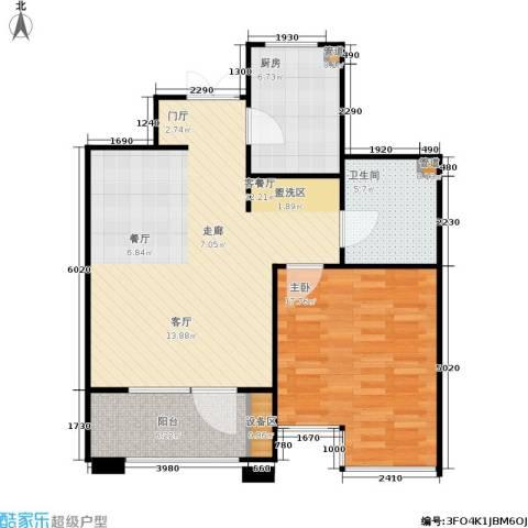 霞飞路63里弄1室1厅1卫1厨75.00㎡户型图