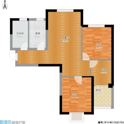 百乐门悦府3室1厅1卫1厨95.00㎡户型图
