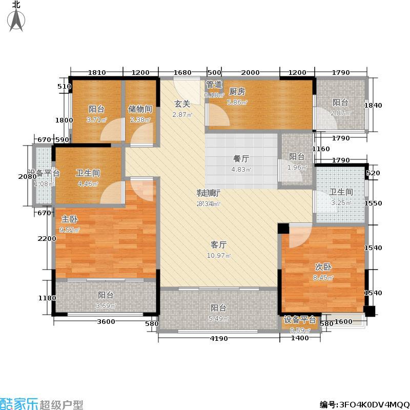 长虹和悦府103.00㎡二期1号楼标准层D户型