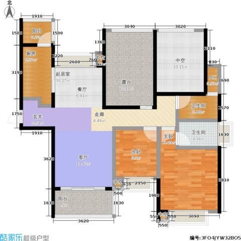 合景峰汇国际2室0厅2卫1厨108.00㎡户型图