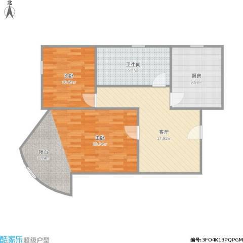 剑河小区2室1厅1卫1厨95.00㎡户型图