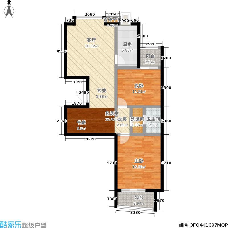 天伦锦城91.52㎡2号楼1面积9152m户型
