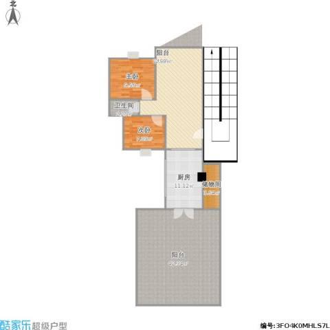 富雅名居2室1厅1卫1厨134.00㎡户型图