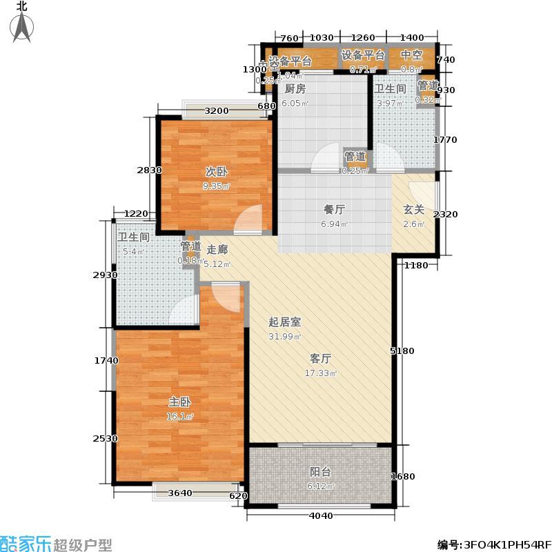 象屿大宁悦府89.00㎡两居户型2室2厅