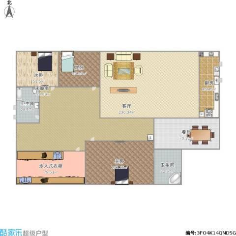 安华里3室2厅2卫1厨1139.00㎡户型图