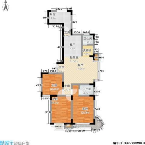 名人御苑3室0厅2卫1厨129.00㎡户型图