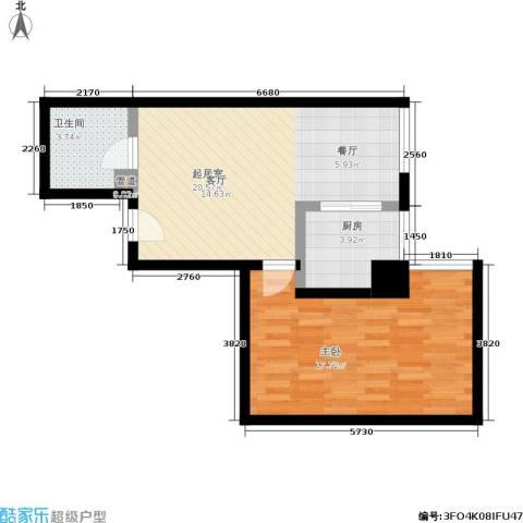 紫雁朗庭1室0厅1卫1厨45.98㎡户型图