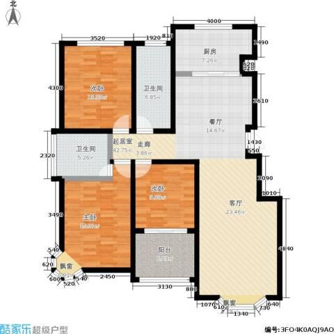 汇东香墅里3室0厅2卫1厨152.00㎡户型图