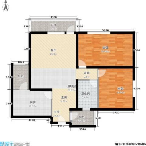 兴庆丽景2室0厅1卫1厨114.00㎡户型图