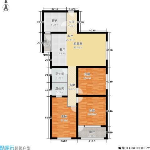 兴庆丽景3室0厅2卫1厨133.00㎡户型图