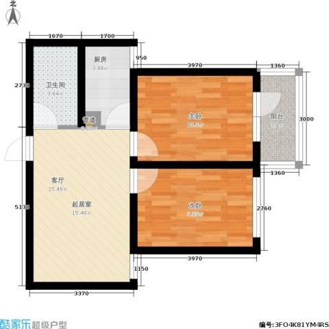 天馨逸家2室0厅1卫1厨67.00㎡户型图