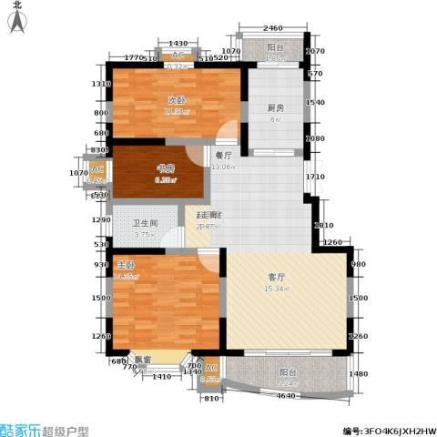 良城美景家园3室0厅1卫1厨90.00㎡户型图