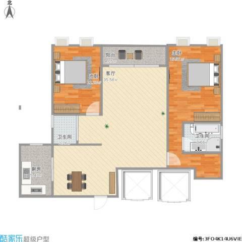 宁宝世家2室1厅2卫1厨109.00㎡户型图