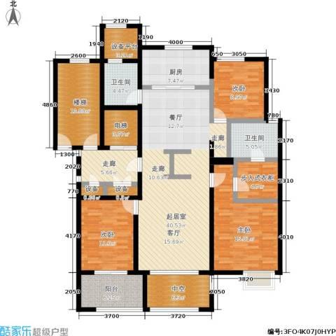 西溪蝶园二期 万科西溪蝶园3室0厅2卫1厨136.22㎡户型图