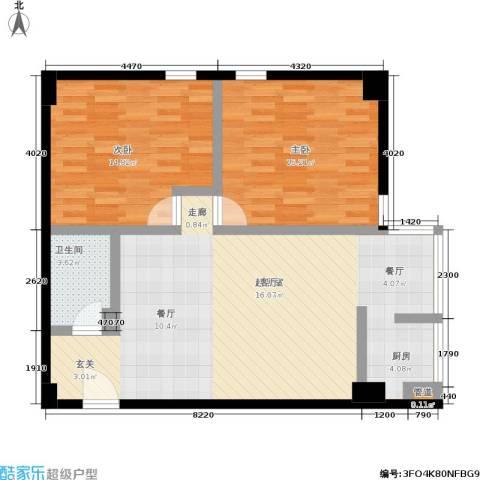 捷瑞公园首府2室0厅1卫0厨100.00㎡户型图