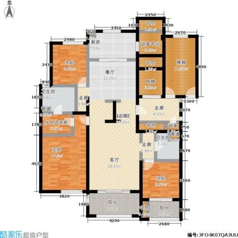 西溪蝶园二期 万科西溪蝶园3室0厅2卫1厨138.61㎡户型图