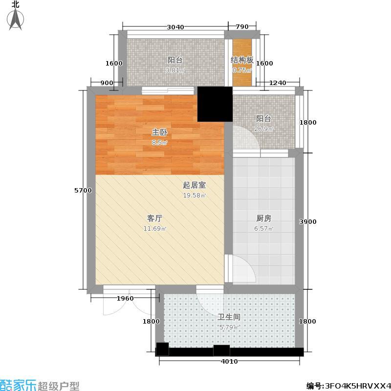 大明宫寓58.80㎡大明宫寓户型图(5/6张)户型10室