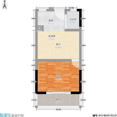 格林馨园1室0厅1卫0厨42.00㎡户型图
