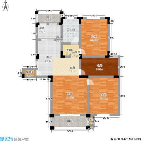 水岸林语3室0厅1卫1厨109.00㎡户型图