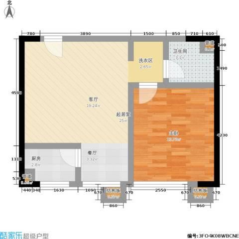 颐和宫1室0厅1卫1厨52.00㎡户型图