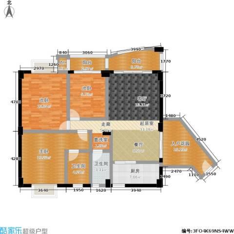 昌泰盛世家园3室0厅2卫1厨155.00㎡户型图
