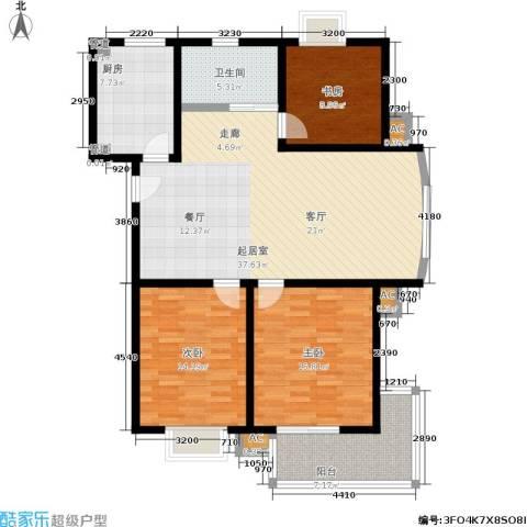 景荣花园3室0厅1卫1厨97.87㎡户型图