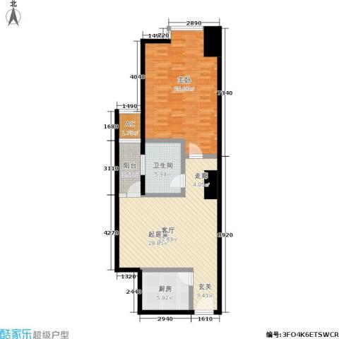 正尚国际公寓1室0厅1卫1厨84.00㎡户型图