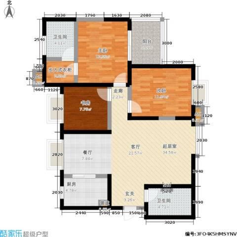 领先尊域3室0厅2卫1厨127.00㎡户型图