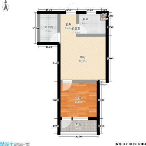 国轩名门1室0厅1卫1厨51.00㎡户型图
