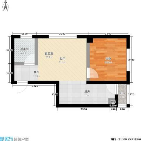 国轩名门1室0厅1卫0厨50.00㎡户型图