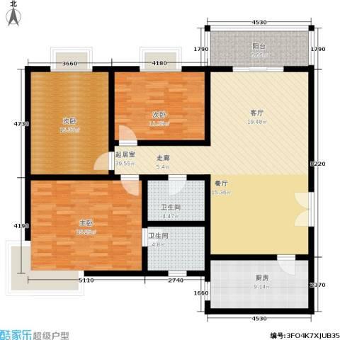 鼎新花园3室0厅2卫1厨116.00㎡户型图