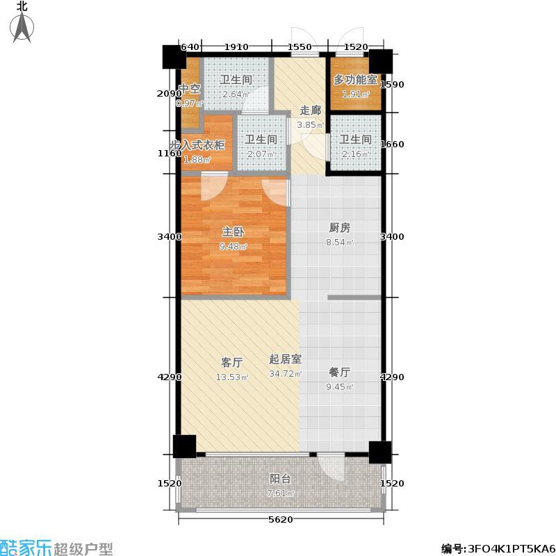龙头国际(龙公馆)68.29㎡龙公馆036829户型1室1厅