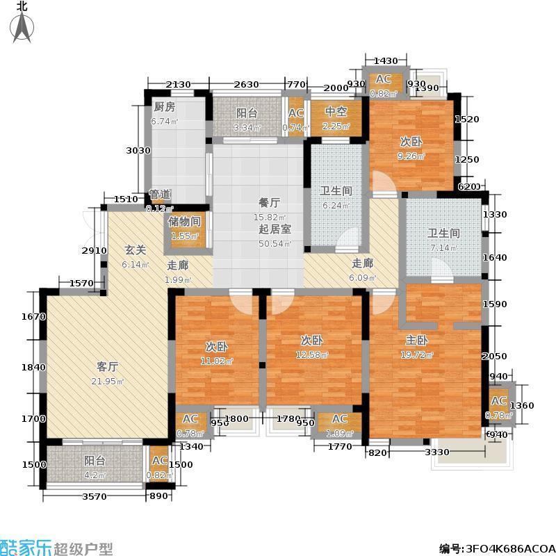 新加坡・尚锦城165.00㎡新加坡尚锦城户型图新加坡尚锦城二期C1户型(1/7张)户型4室2厅2卫