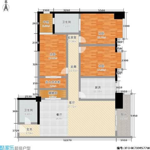 世纪金园3室0厅2卫1厨155.40㎡户型图