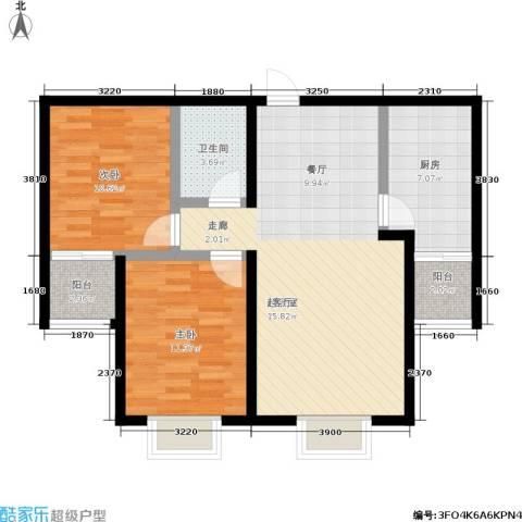 捷瑞新时代2室0厅1卫1厨100.00㎡户型图
